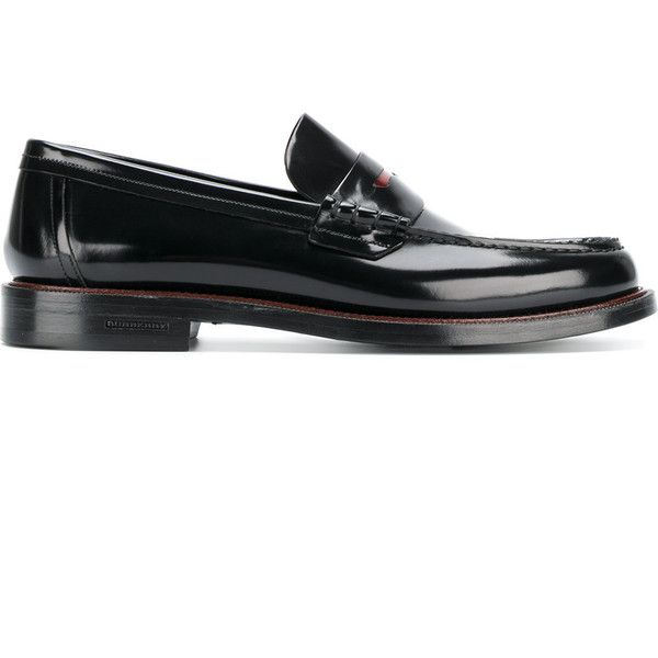 Burberry classic penny loafers (34.805 RUB) via Polyvore featuring men's fashion, men's shoes, men's loafers, black, mens round toe dress shoes, burberry mens shoes, penny loafers mens shoes, mens flat shoes и mens black shoes