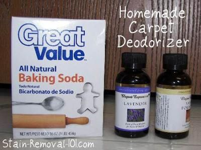 Several homemade carpet deodorizer recipes using natural ingredients {on Stain Removal 101}