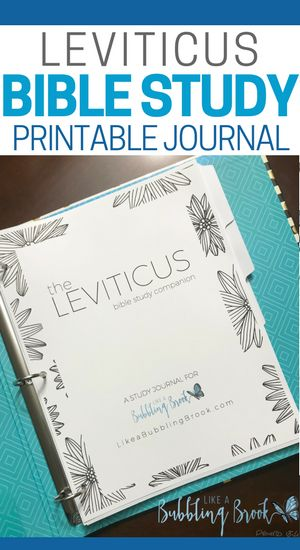 Perfect bible reading plan for the book of Leviticus, with prompts for writing down thoughts about each day's reading! Printable, too! #bible #biblestudy #leviticus