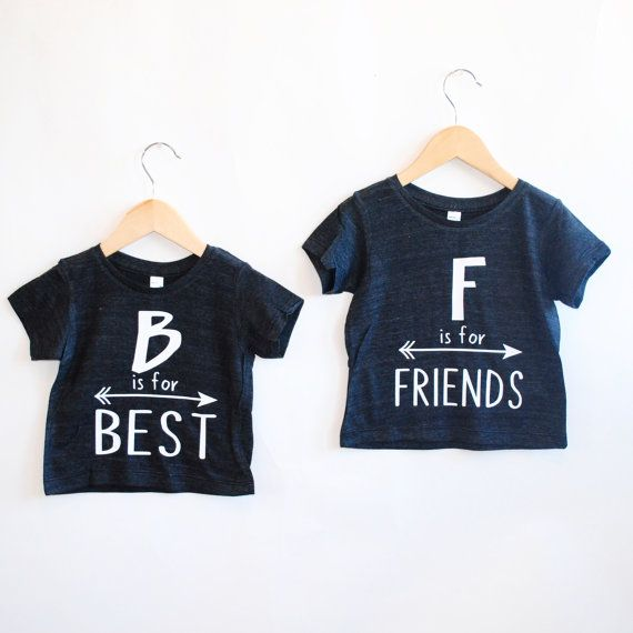 Ähnliche Artikel wie Best Friends Tee -Inspirational Alphabet - Child t-shirt - tee - raglan - toddler, baby, infant - American Apparel auf Etsy