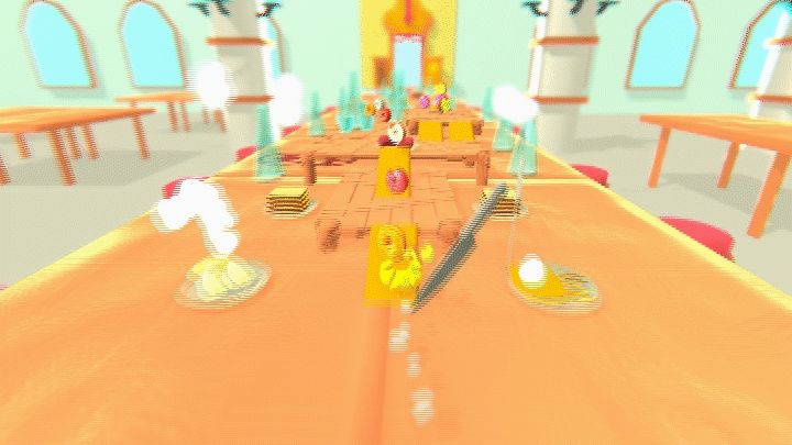 Croissant going crazy  #mealescape #gamedev #indiedev #indiegame