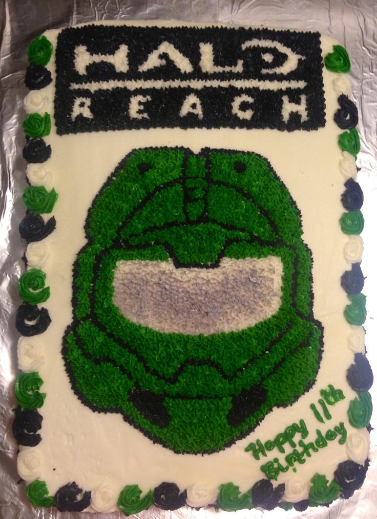 Halo Reach Cake Party Ideas And Cakes Halo Birthday