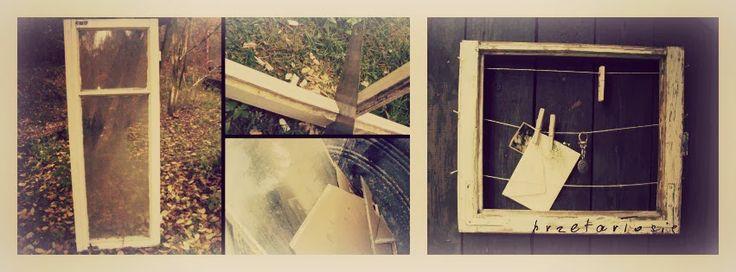 stare okno - ramka/wieszak