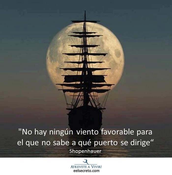 ★★No hay ningún viento favorable para el que no sabe a qué puerto se dirige.★★ Shopenhauer