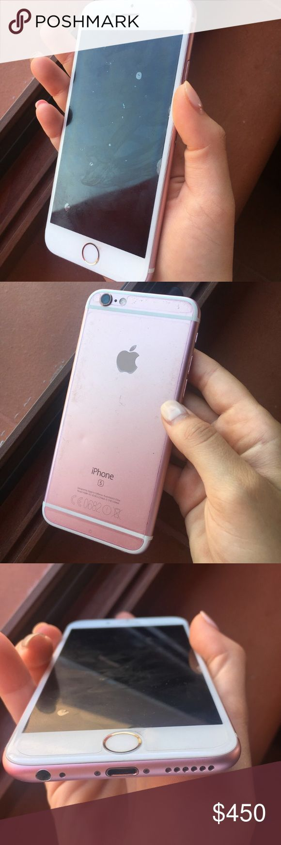 Rose gold Iphone 6s 32gb! functional 100%! some tiny scratches! don't need anymore upgraded to the 7 plus! please send offers through offer button thank you! camera works fine! and icloud unlocked! comes with all accessories OFFERS apple Accessories