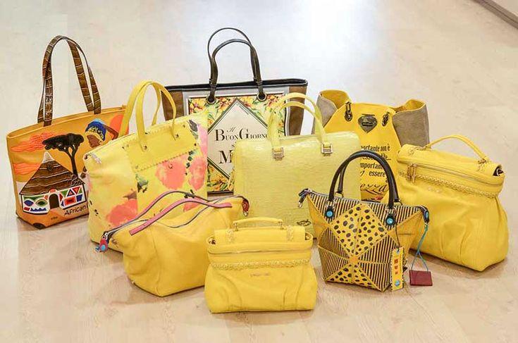 """Twin-Set, Le Pandorine, Gabs, Braccialini tutti i modelli disponibile nel colore del sole e dell'allegria: Il Giallo. Nel Post """"La forza del Giallo"""" su Carpel Shop Blog"""