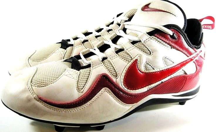 Nike Zoom Air Football Cleats Size 16 Red White Black.  RRR 64 #Nike #FootballCleats
