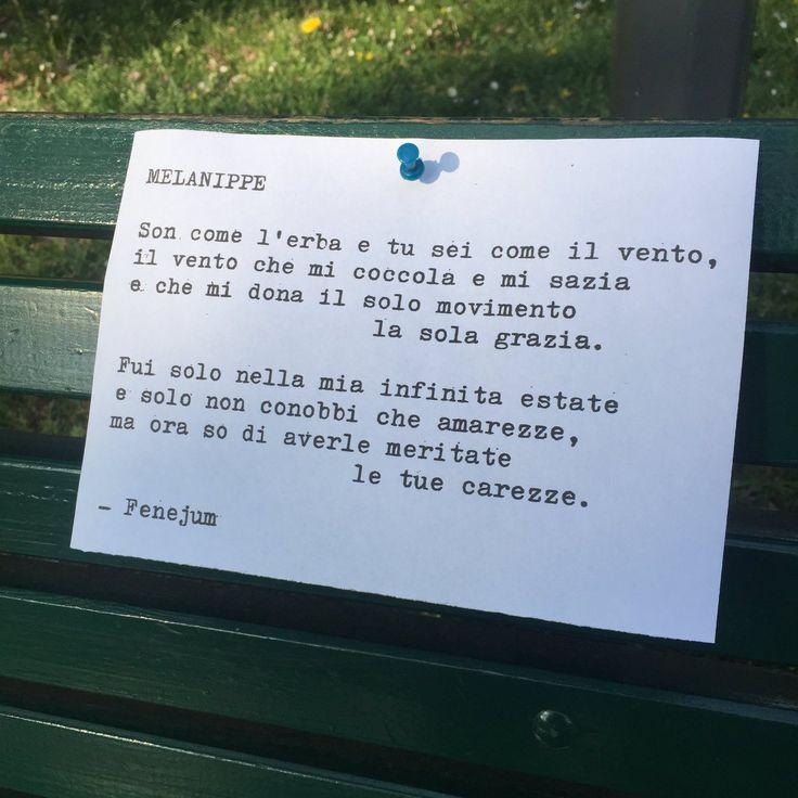Fenejum, Melanippe - Poesia di strada, Milano (via Twitter)
