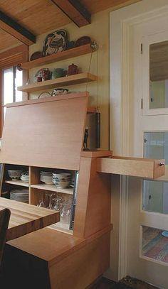 Breakfast Nook With Hidden Storage #tinyhouse #ideas