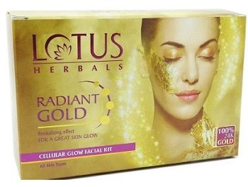 gold facial kit lotus herbals
