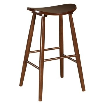 55 Linon Curve Backless Counter Stool H24 Counter