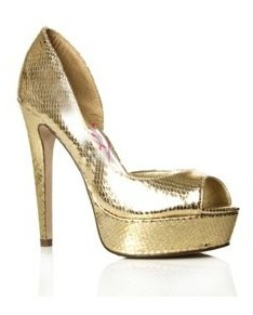 gold shoes I wore on golden globes