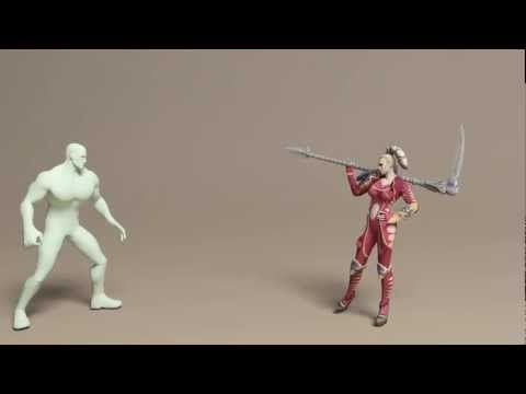 ▶ Woman game animations - YouTube