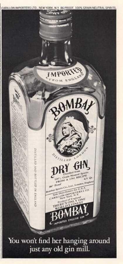 Bombay Dry Gin Bottle (1966)