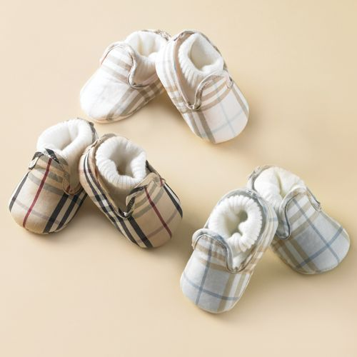 burberry kids outlet online f36l  How cute are these baby Burberry Infant Check Booties? The slippers are  made with built-in sock and come in three different