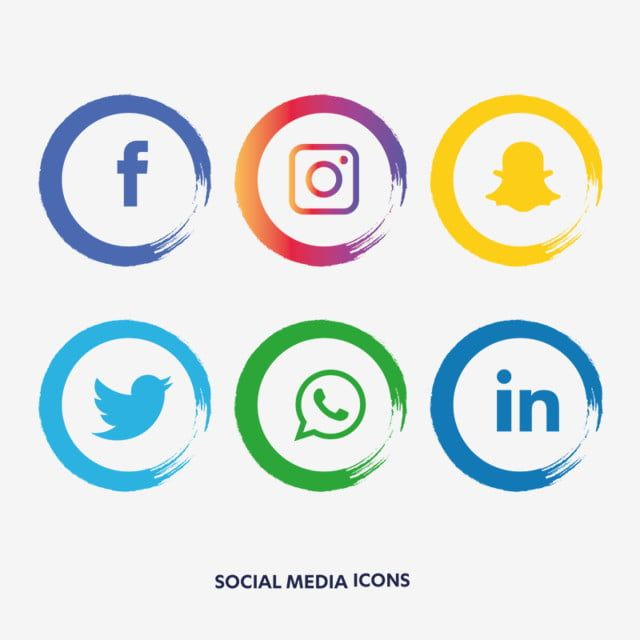 Social Media Icons Set Social Clipart Social Icons Media Icons Png And Vector With Transparent Background For Free Download Icones De Midia Social Conjunto De Icones Icones Sociais