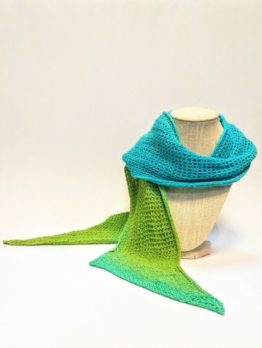 Blue + Green Ombre Cotton Knit Scarf available at Harold + Ferne: The Local Goods Co.