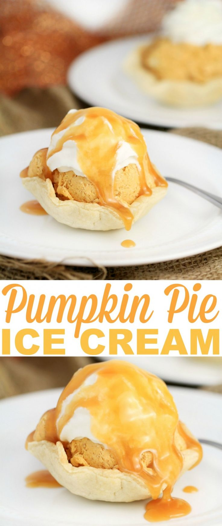 Pumpkin Pie is a crowd favourite and this delicious No-Churn Pumpkin Spice Ice Cream recipe is served in flaky pastry bowls. This cold dessert is perfectly creamy and tastes just like pumpkin pie.
