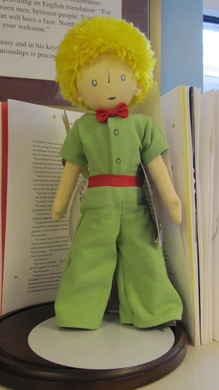 The Little Prince doll on display in the Northport Public Library Children's Room. #LittlePrince