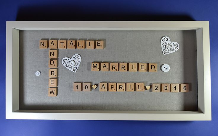 Wedding Letter Art, Marriage, Letter Art, Congratulations, For Her, Couple, Wall Decor, Scrabble Pictures, Wedding Gift, Anniversary, Welsh by HiraethCraftsWales on Etsy . . https://www.etsy.com/uk/shop/HiraethCraftsWales