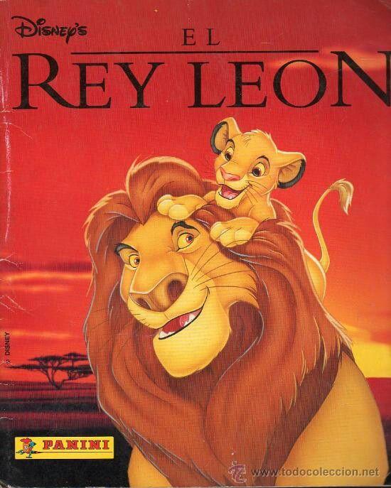 Álbum panini de El Rey León