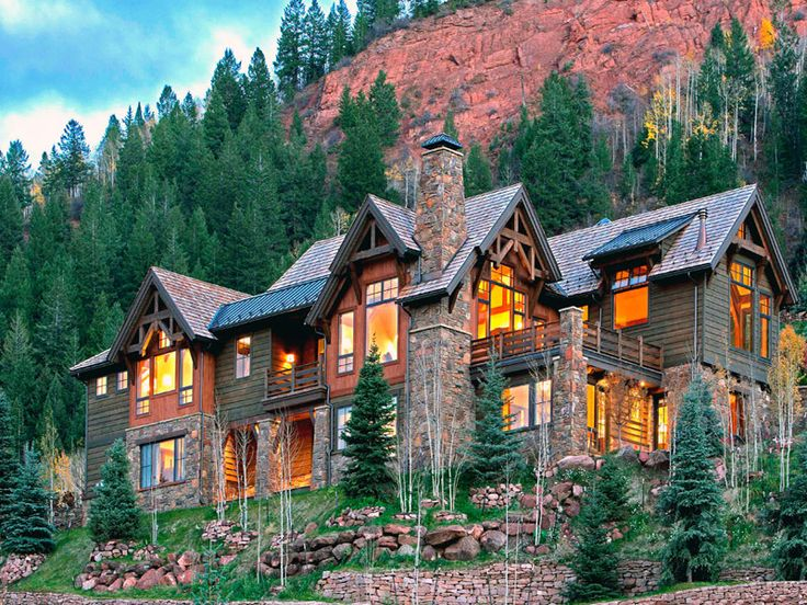 Log cabin in the mountains log cabins pinterest for Colorado mountain house