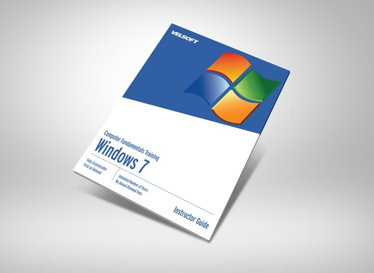 Microsoft Windows 7 Basic Courseware ➜ To DOWNLOAD this Free as a sample click on the image above. #velsoft #courseware #trainingmaterials