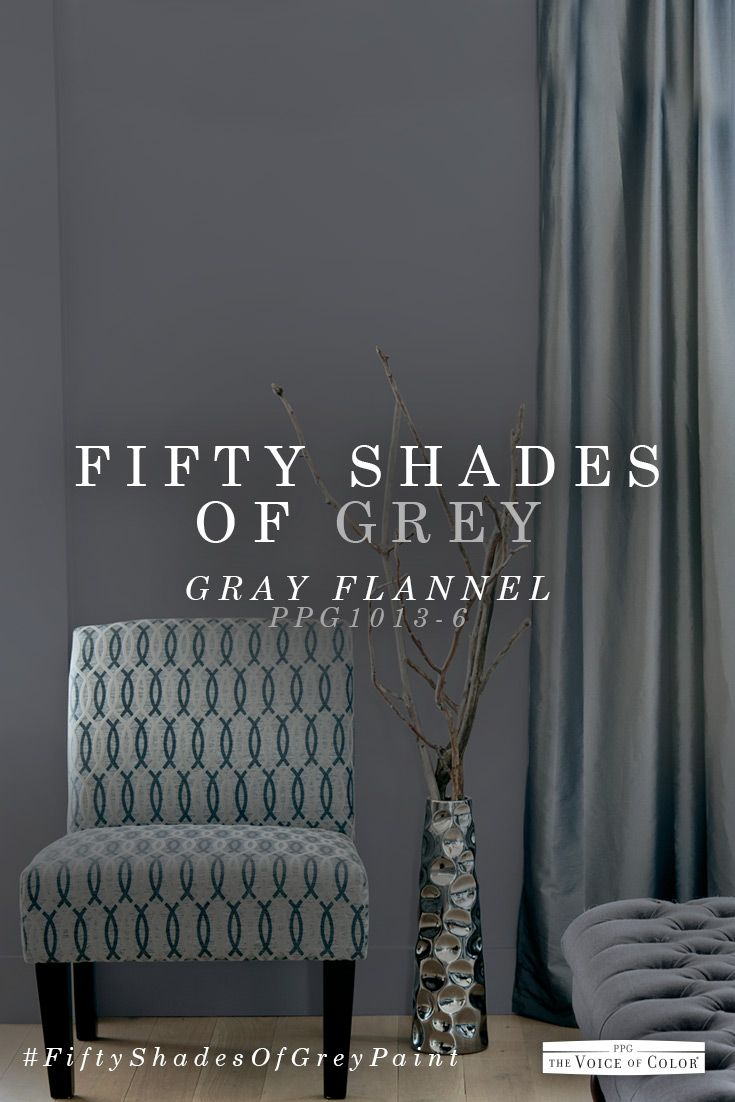 008 Pin by PPG on 50 Shades of Grey Paint Grey bedroom