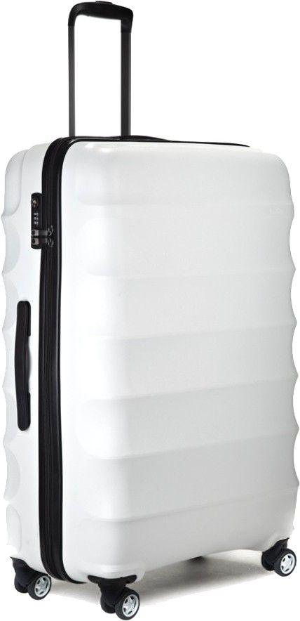 Antler Juno 79cm Large Lightweight 4 Wheel Suitcase White