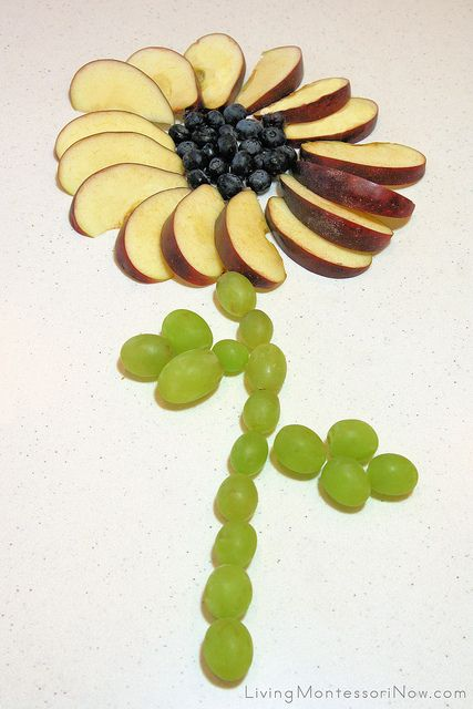 Fruit Flower by Deb Chitwood, via Flickr (Montessori-Inspired Food Art)