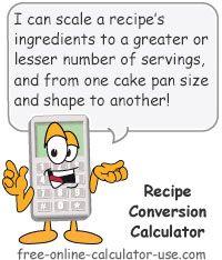 Recipe Conversion Calculator
