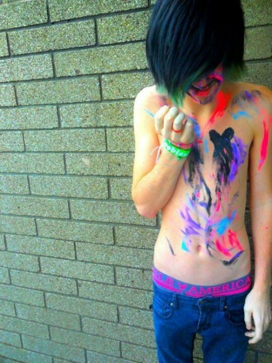 Colorful #scene boy so fudging HOT painted to be a masterpiece !^_^