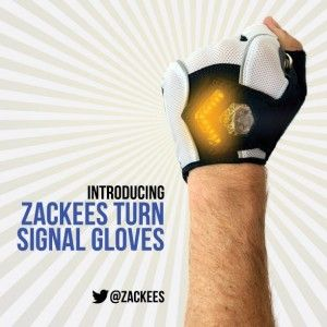Zackees Turn Signal Gloves – Smart Street Fashion ! Read more at http://whyoffashion.com/zackees-turn-signal-gloves-smart-street-fashion/