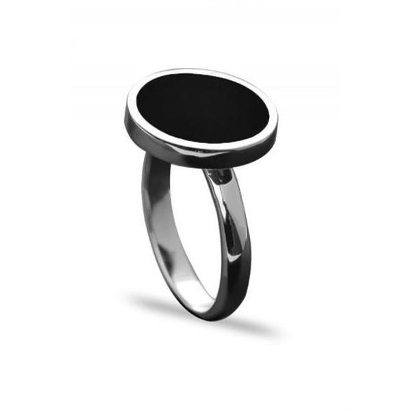 خاتم فضة ملكي اسود عيار 925 Gemstone Rings Rings Gemstones