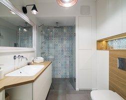 Saska Kępa na Gocławiu - Średnia łazienka, styl skandynawski - zdjęcie od EG projekt