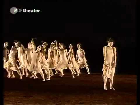 Pina Bausch. Choreographer, Rite of Spring (Stravinsky). My favorite choreography of this piece. Original choreo by Nijinksy is lost. Most people know this revolution of music and dance created a riot when debuted by Diaghilev's Ballets Russe.