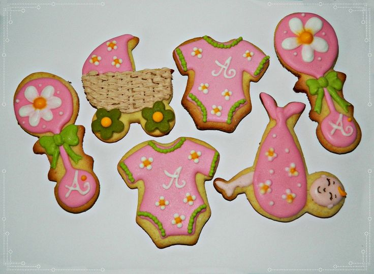 Girl pink cookie favors by Forget-me-not Cookies