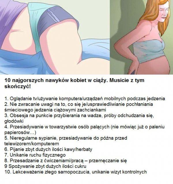 10 najgorszych nawyków kobiet w ciąży. Musicie z tym skończyć!!!