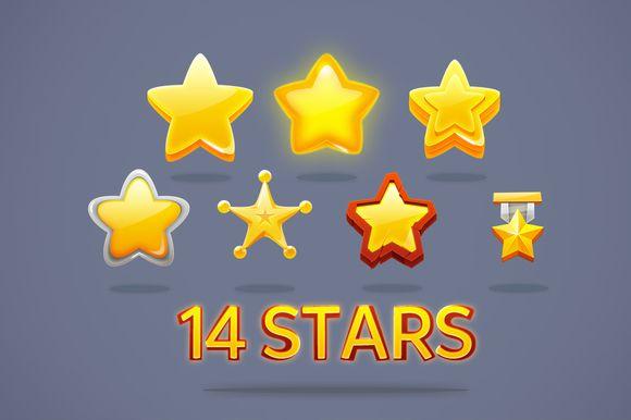 14 game stars by samuelsuarez on Creative Market