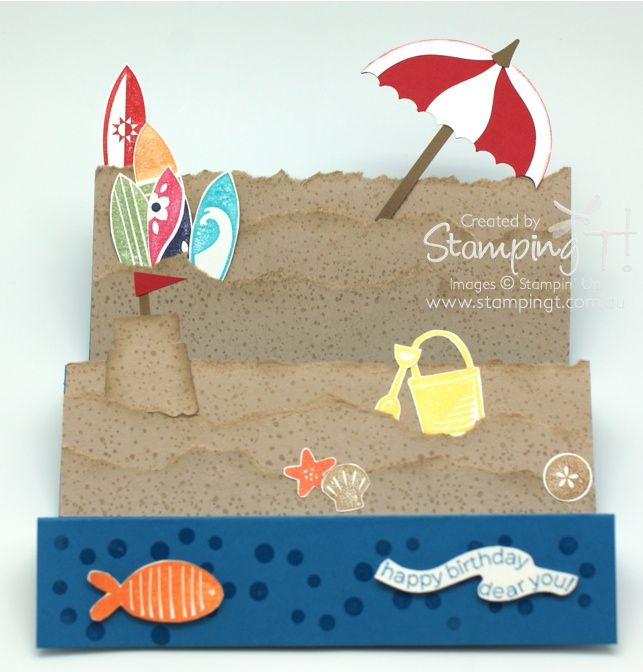 Stampin' Up! Stamping T! - Summer Splash Stair Card