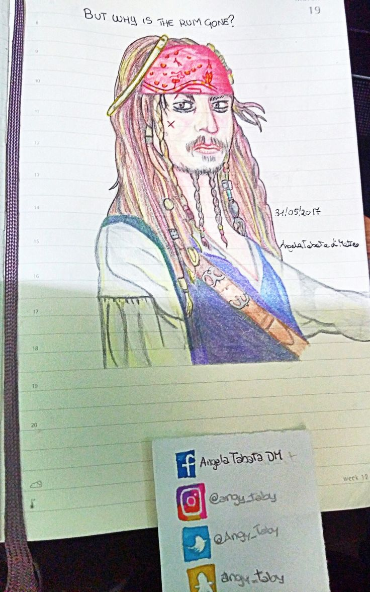 Captain Jack Sparrow #illustration #drawing #jacksparrow #johnnydepp