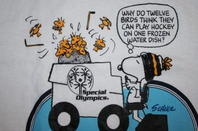 Image detail for -New Notre Dame Hockey Snoopy on Zamboni T Shirt Men's M Special ...