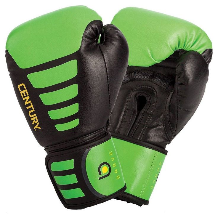 Century Brave Youth Boxing Glove - Black/Green 6oz