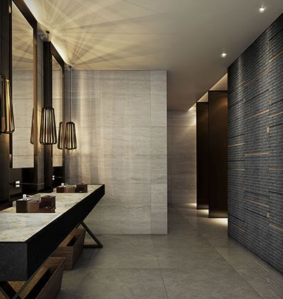 25 best ideas about restroom design on pinterest public for Bathroom designs companies