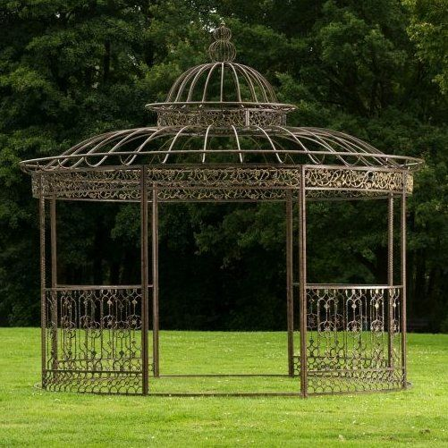pavillon aus metall gardening pavillon garten und rankpflanzen. Black Bedroom Furniture Sets. Home Design Ideas