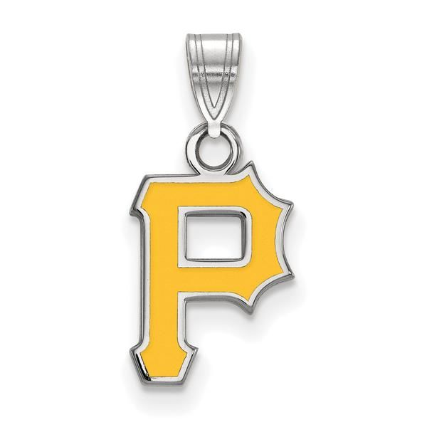 Pittsburgh Pirates Enameled Pendant, perfect for MLB fans! Love baseball? We do! Check out our website for more products inspired by the game!