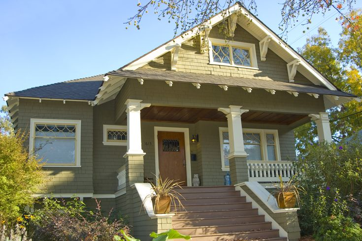 Craftsman style bungalow this old house pinterest Bungalow columns