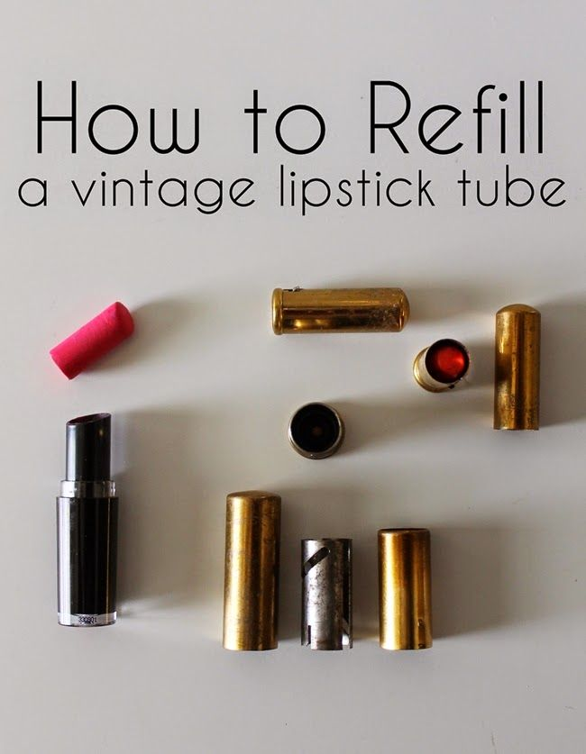 how to refill a vintage lipstick tube tutorial from Va Voom Vintage