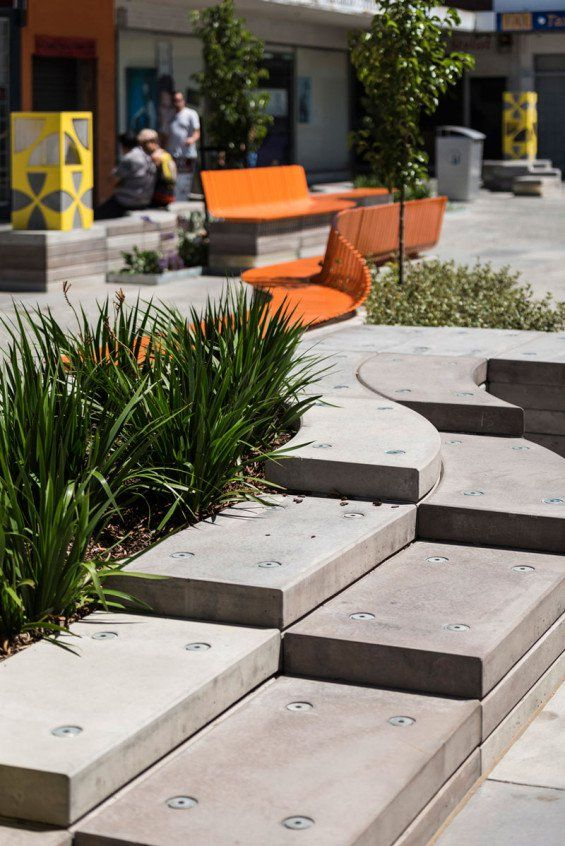 Enlocus revitalises Morgan Court with an integrated and vibrant approach #landscapearchitecture #melbourne #design