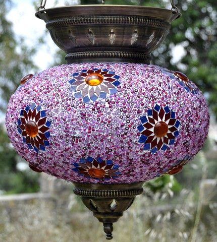 Mosaic Lamp Shade ML MLS Pink 2